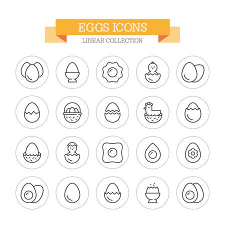 Eggs line icons. Ilustração