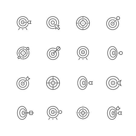 Target line icons. Ilustração