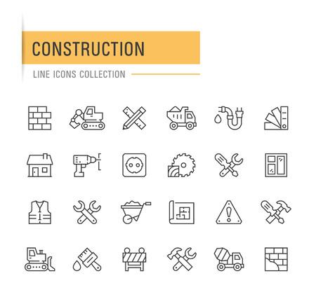 Construction line icons. Ilustração