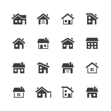 House icons. Ilustração