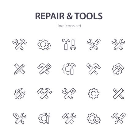 Repair and tools icons.