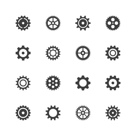 Gears icons. Ilustração