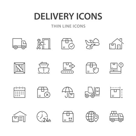 Delivery line icons.