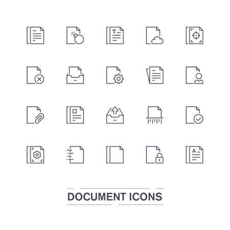 Document line icons.