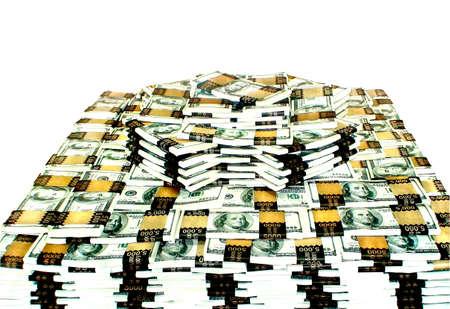 stack of 1 million dollars isolated on white photo