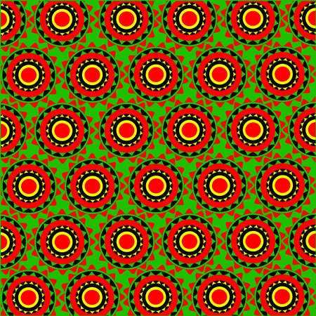 yellow african: Africa pattern Illustration