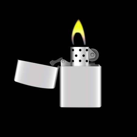 gas lighter: Lighter vector Illustration