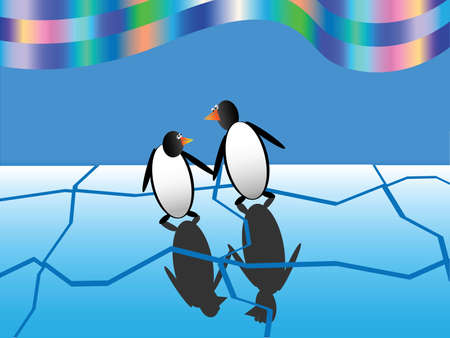 Fun penguins  Vector