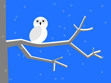 cresent: Snowy owl