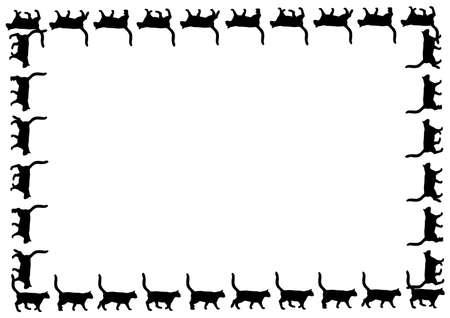 kittens: Black cats silhouette for your design Illustration