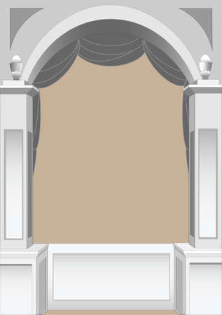 illustration of a classic arch  for use as a border or frame Vector