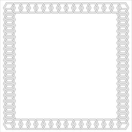 silver picture frame: Chain frame Illustration