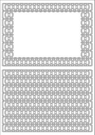 hauberk: Frame border twisted rings with pattern of hauberk. Illustration