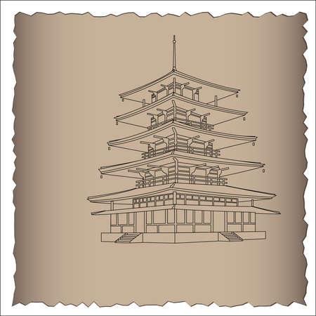 pagoda:  Japanese pagoda