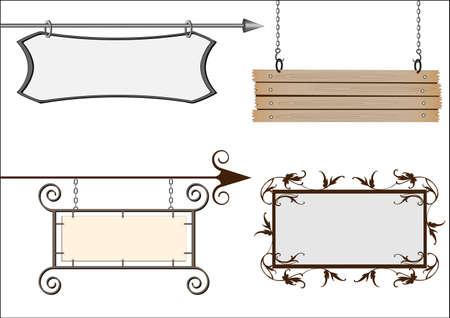 Set of vector signboards  Stock Vector - 10636851