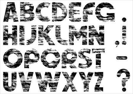 Grungy alphabet. Vector
