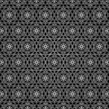 Eastern ornament  Black and white  Vector