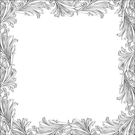 Floral frame. Hand-drawn vector illustration.  Stock Vector - 11137923
