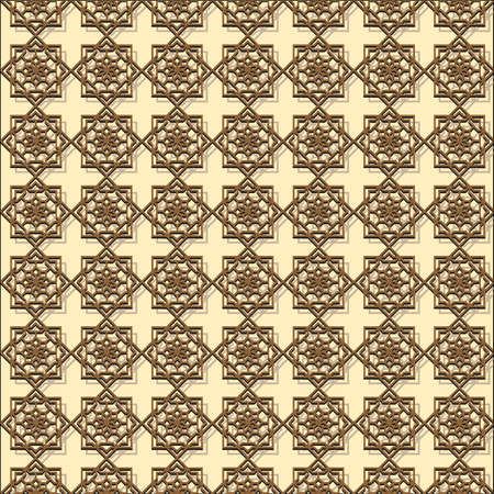 eastern religion: Relief oriental (eastern) pattern . Illustration
