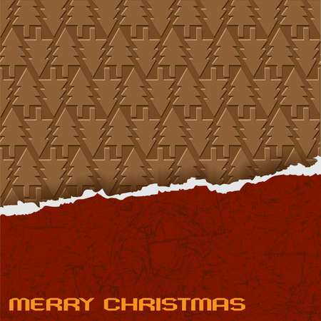 Chocolate Christmas background. Vector