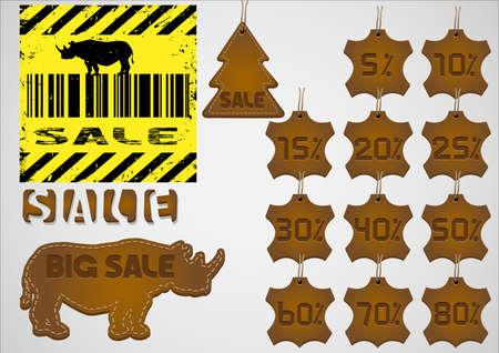 Creative winter sales design elements,  Vector