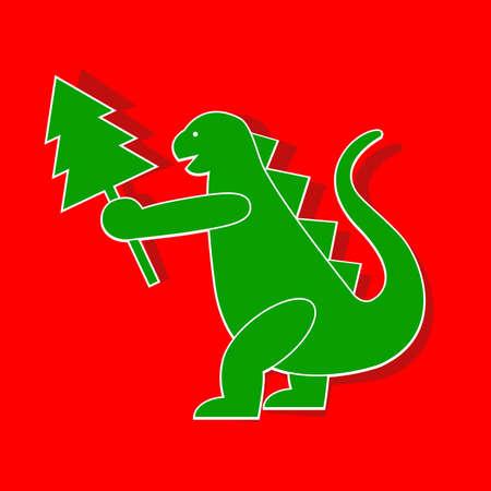 Applique cute Godzilla-Dragon symbol 2012 year. Stock Vector - 11552187
