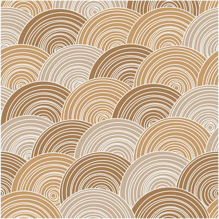 Vector seamless abstract pattern.Endless texture in warm colors. Vector