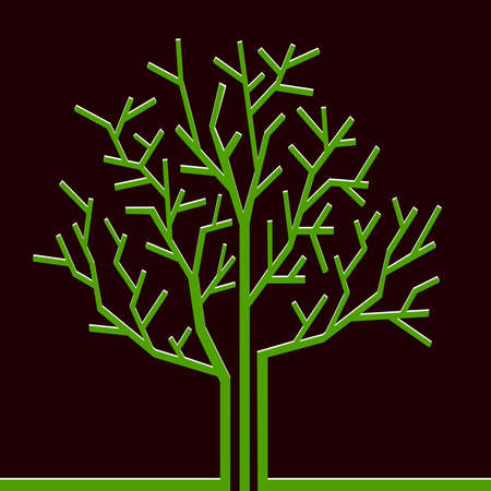 Stylized paper tree. Vector illustration Stock Vector - 11552280