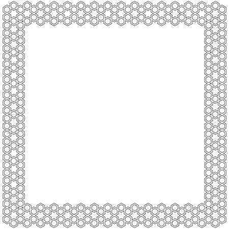 Simple decorative indian frame. Vector. Vector