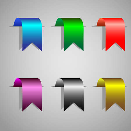 Colorful bookmark ribbons.Vector set Vector