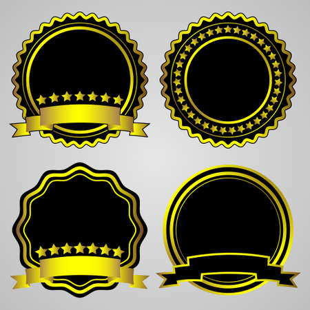 Gold-framed labels. Vector set Stock Vector - 11552234
