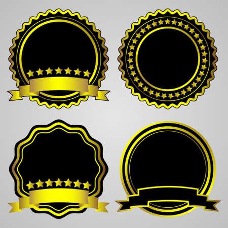 Gold-framed labels. Vector set Stock Vector - 11552234