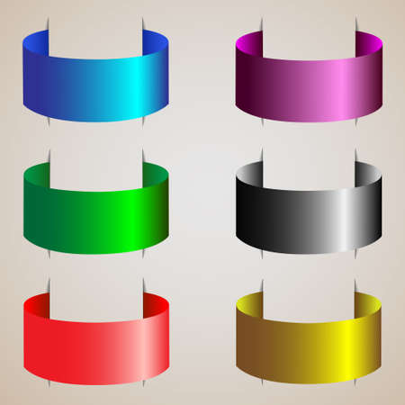 Varicolored ribbons of silk.Vector set Vector
