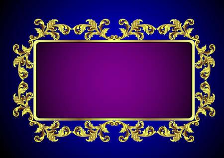 Gold vintafe frame.Vector eps10 Illustration