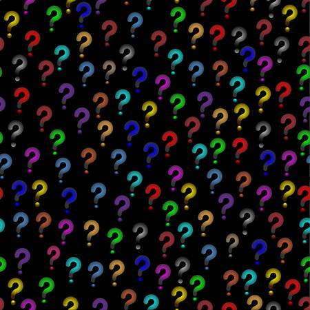 Multicolored seamless background with question signs Vector