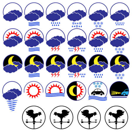 Weather icons.Vector set Vector