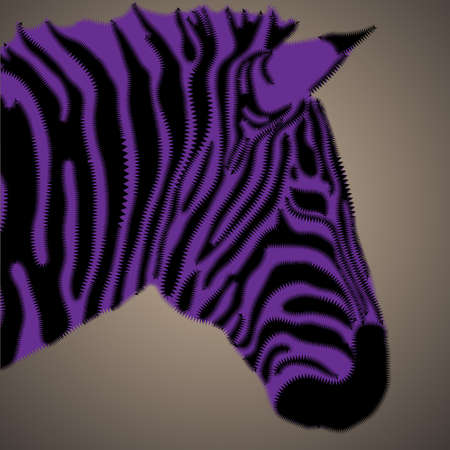 Creative portrait of zebra.vector illustration Vector
