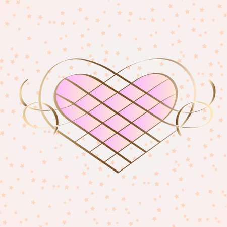 Vintage heart with calligraphic elements.vector illustration. Eps 10. Vector
