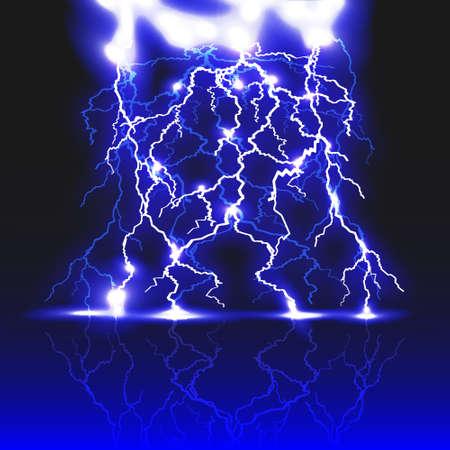 Lightning strike.Vector eps 10 Vector