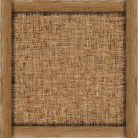 Organische weven achtergrond met houten boards.Vector eps 10 Vector Illustratie