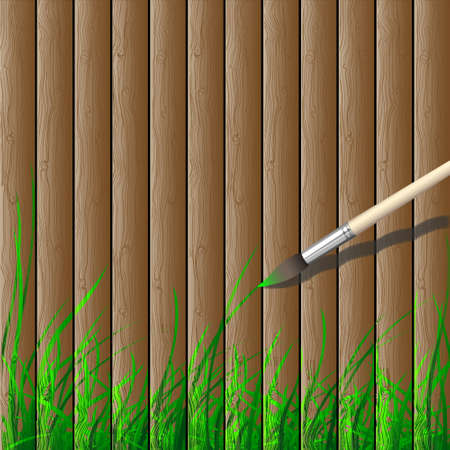 Wooden creative background.Eco concept vector Vector