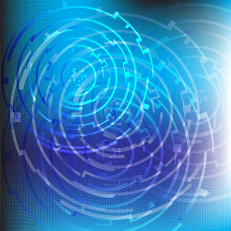 Blue techno background.Vector eps10 Stock Vector - 11865155