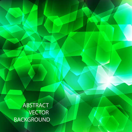 Green geometric background.Vector eps10 Stock Vector - 12002575