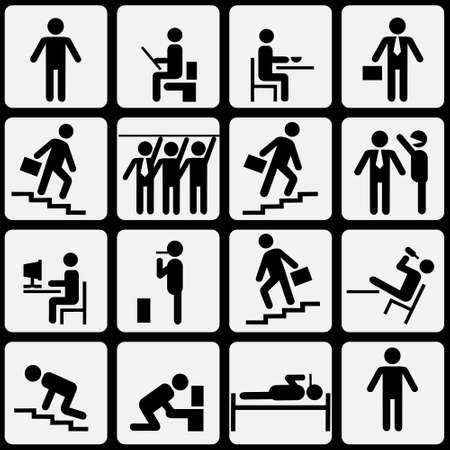 Symbolic life of human.Vector eps10 Stock Vector - 12002552