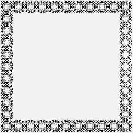 Simple decorative vintage frame.  Vector