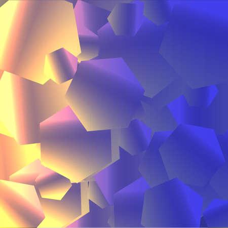 Shiny hexagon background. Vector eps10 Stock Vector - 12030061