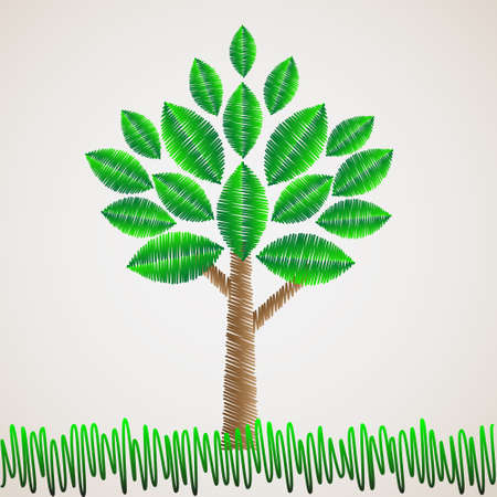 Stylized tree.Vector eps10 Vector