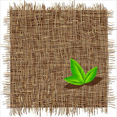 vezels: Organische weven patroon. Eco achtergrond. Stock Illustratie