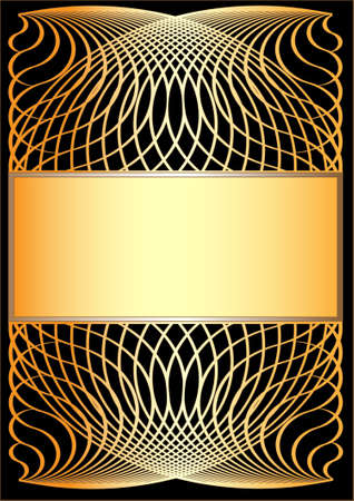 Gold frame sur fond noir.