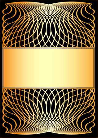 gilt: Gold frame  on black background.